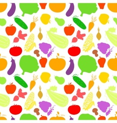 Vegetables seamless pattern light background with vector image