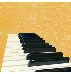 Vintage piano background vector