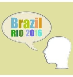 Background colors with the inscription brazil rio vector