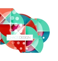 Geometric abstract composition - circles layout vector