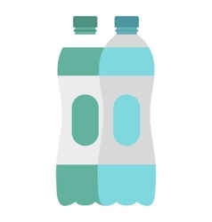Water bottle icon flat style vector