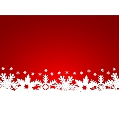 Christmas red background with snowflakes vector