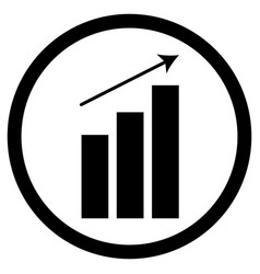 chart up icon vector image