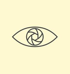 Photography logo design eye line art vector