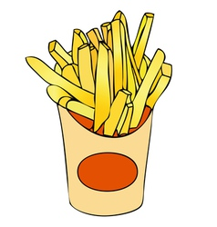 Basket of chips vector