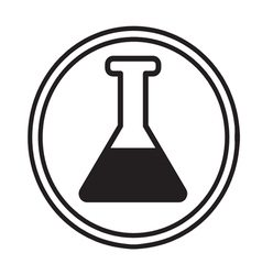 Chemical glassware symbol icon vector