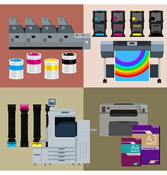Digital print machines vector
