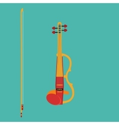 Electric violin vector