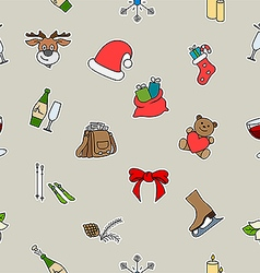 Lovely holiday symbols vector