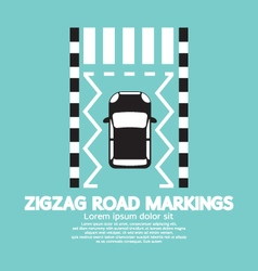 Top view of zigzag road markings vector