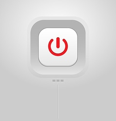 Power button icon vector