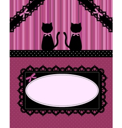 Cats card vector