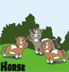 cartoon horse background vector image
