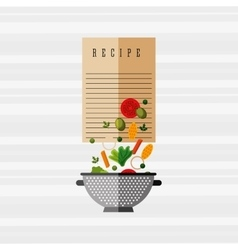 Healthy cooking design vector