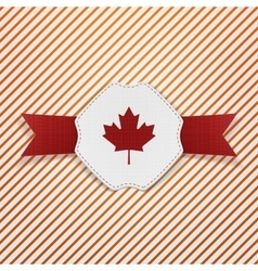 Canada red maple leaf on realistic tag vector