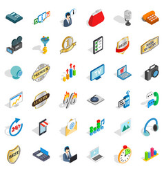 All service icons set isometric style vector