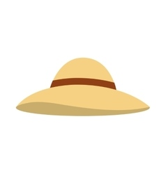 Beach hat isolated icon vector
