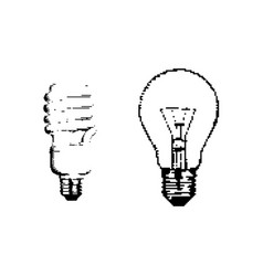 black 8-bit bulb isolated on white vector image vector image