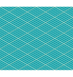 Blue Isometric Seamless Background - Pattern vector image vector image