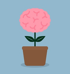 Brain plant pot vector