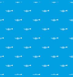 brass trumpet pattern seamless blue vector image