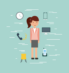 businesswoman briefcase vector image