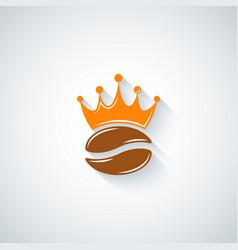 coffee bean crown menu background vector image vector image