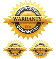 Customer satisfaction guaranteed gold badge vector image
