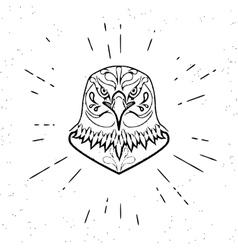 Dangerous eagle vector image vector image