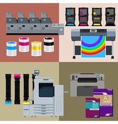 Digital print machines vector