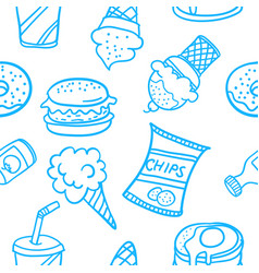 Doodle of food various style design vector