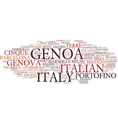 Genoa word cloud concept vector