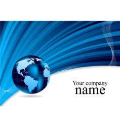 Globe illustration vector image vector image