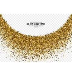 Golden shiny tinsel square particles vector