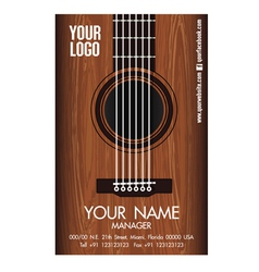 Guitar namecard vector