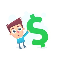 Huge debts vector image vector image
