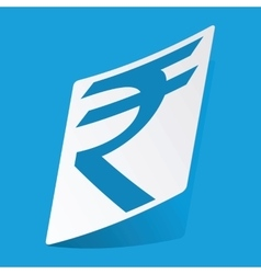 Indian rupee sticker vector