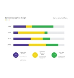 Infographic line diagram or bar design with vector