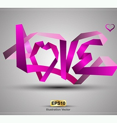 LOVE origami vector image vector image
