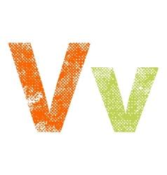 Multicolor grunge letter vector