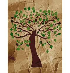 Organic tree on the paper background vector image vector image