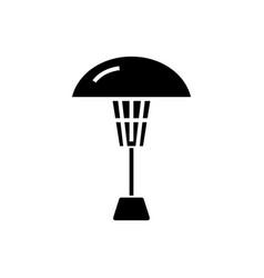 Patio heater icon black sign vector