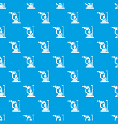 Phoropter pattern seamless blue vector