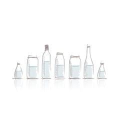 Set of bottles sketch for your design vector image vector image