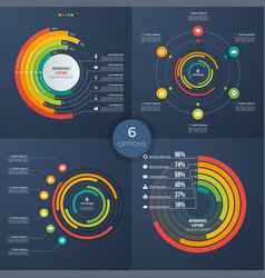 Set of presentation circle infographic vector