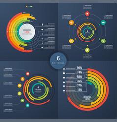 set of presentation circle infographic vector image