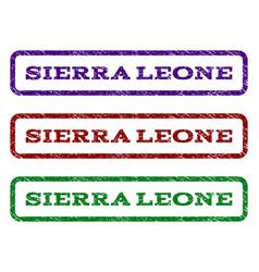 Sierra leone watermark stamp vector