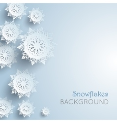 Snowflakes background new year and christmas vector