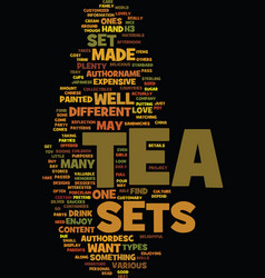 tea sets text background word cloud concept vector image vector image