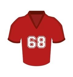 uniform t-shirt football american icon vector image